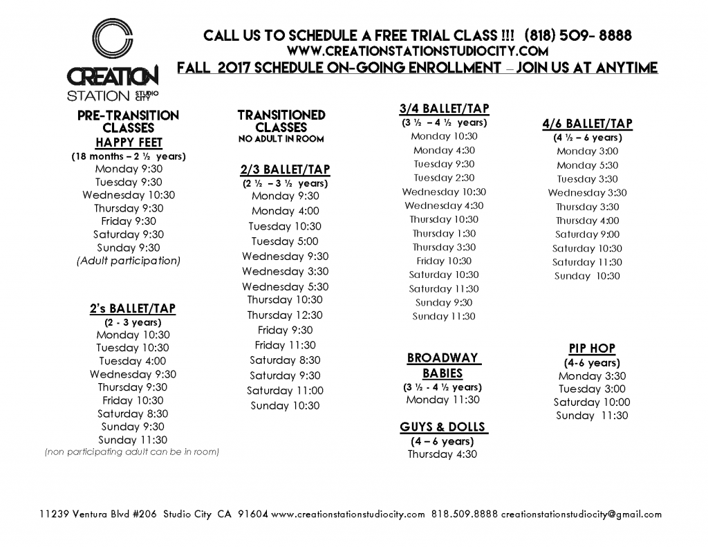 CSSC SCHED Fall 2017 Sept